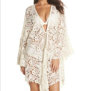 Other - Free People Move Over Lace Robe
